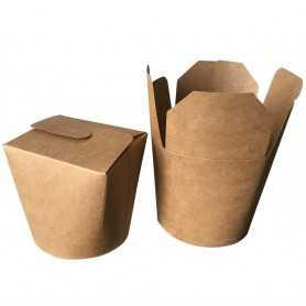 Boîte à pâtes - Boîte à pâtes kraft brun - Boîte transport Snack et Vente-à-emporter