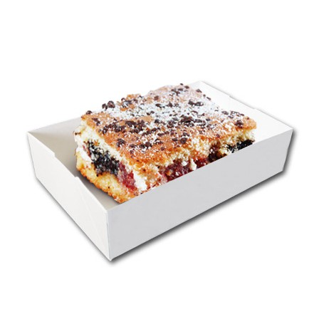 Caissettes blanches sans couvercle - Caissette rectangle grand format - Caissette Pâtisserie grand format