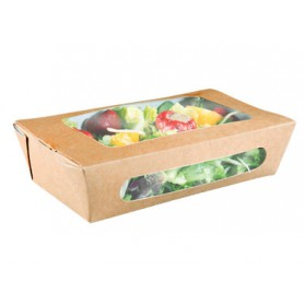 Boîte salade kraft avec fenêtre