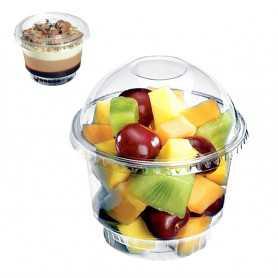Coupe à dessert cristal 245ml- Coupe Vente-à-emporter - Emballage professionnel coupe mousse à chocolat spécial vente-à-emporter