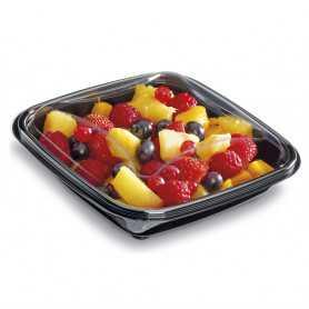 Boîte salade Crudipack - noire ou transparente - Saladier pour salade bar, saladerie et restauration rapide