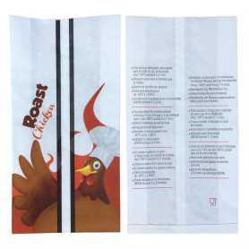 sac poulet roti impermeable - ingraissable - sac alimentaire - emballage rôtisserie