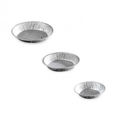 Moules ronds à tartelettes en aluminium - emballage pâtisserie