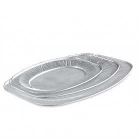 Plats aluminium de présentation ovales
