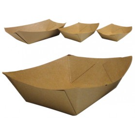 Barquettes kraft brun - barquette alimentaire en papier kraft brun