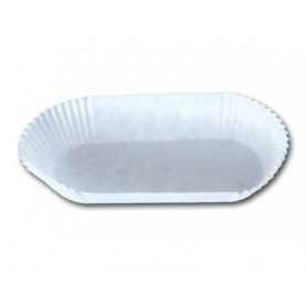 Caissette blanche barque - Papier plissé - Caissette Boulangerie Pâtisserie