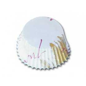Caissette papier plissée ronde - Caissette alimentaire ronde avec imprimé - Caissette pâtissière cupcake