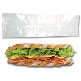 Sac Sandwich polypro transparent - emballage snack