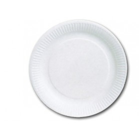 Assiettes rondes carton blanc - Assiette jetable en carton - Vaisselle Jetable Carton