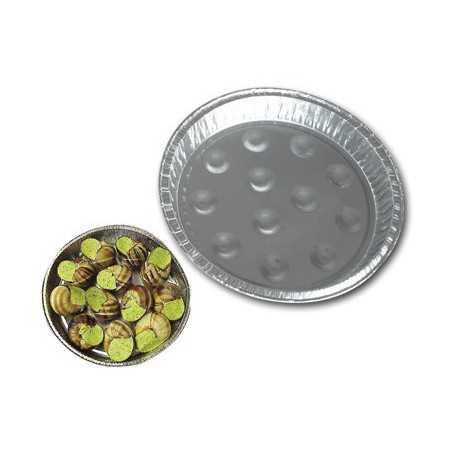 Assiette aluminium alvéolée pour escargots - Assiette Escargot Four