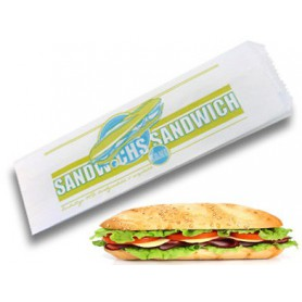 sac sandwich papier ingraissable - emballage snacking et sandwicherie