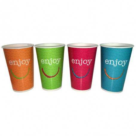 Gobelet carton Enjoy - gobelet vente à emporter - gobelet café