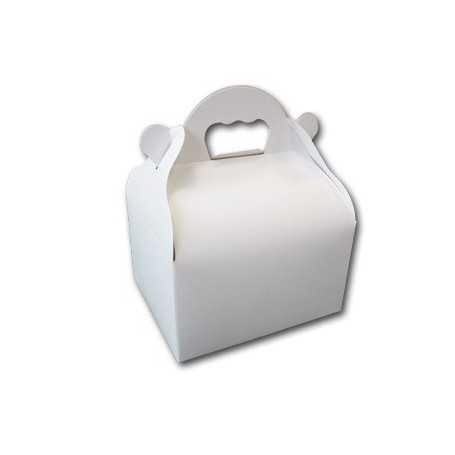 Caissettes blanche avec poignées - Caissette Vente-à-emporter - Caissette Snack