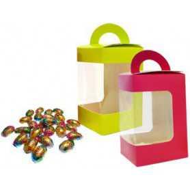 Boîte à oeuf et poule pour chocolat de Pâques - vente-à-emporter chocolat