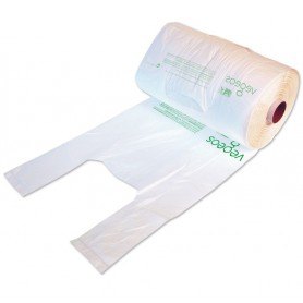 Sac bretelle biodégradable en rouleau - sac écologique et biodégradable en plastique