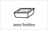 Emballage boite alimentaire avec fenêtre