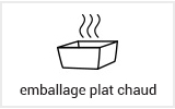 Emballage alimentaire usage chaud plat chaud